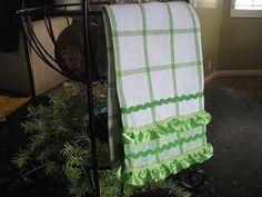 DIY ribbon and ric rac trimmed towels