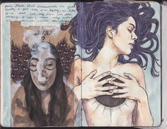 Art Journal 6 pages 105-106 | Personal writing on depression… | Flickr