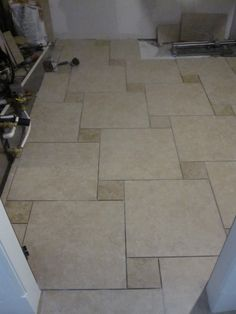 Setting Tile in Laundry Room Overall