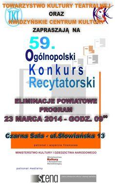 59. Ogólnopolski Konkurs Recytatorski -> http://kck.ckj.edu.pl/aktualnosci.html