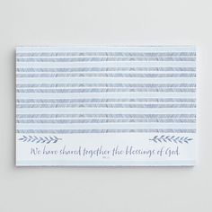 Religious theme with Bible quote place mats.