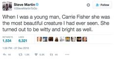 Steve Martin's twitter 'tribute' to Carrie Fisher was met with a swift backlash. And he wasn't the only one.