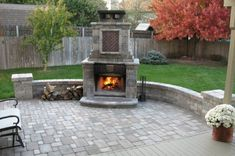 outdoor fireplaces - Google Search