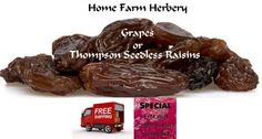 Jumbo Thompson Seedless Raisins, Order now, FREE s