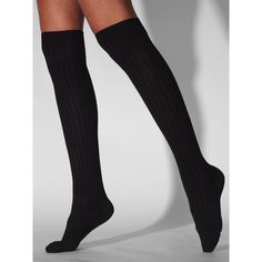 Ribbed Modal Over-The-Knee Sock ($13) ❤ liked on Polyvore featuring intimates, hosiery, socks, accessories, perrie clothes, tights, over the knee socks, american apparel hosiery, above knee socks and ribbed over the knee socks