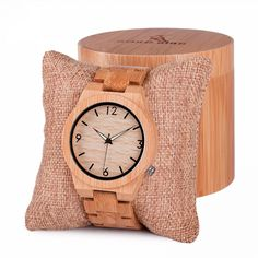 Cheap watch brand, Buy Quality watch designer brands directly from China watch in Suppliers: BOBO BIRD Men's Top Brand Design Green Wood Dial Watch with Full Bamboo Wooden Bands Sport Quartz Watches in Round Box Wooden Watches For Men, Unique Watches, Swiss Army Watches, No Plastic, Wood Watch, Branding Design, Men Watch, Stuff To Buy, Accessories