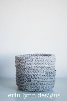Ombre Grey Storage Fabric Basket on Etsy, $25.00