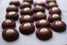 Red Velvet Cookies with Cream Cheese centers