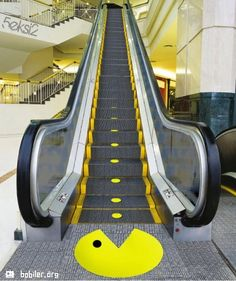 The escalator.