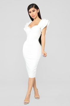 b42e55e54f7 Like What You Do Twist Front Dress - Off White Neck Stretches