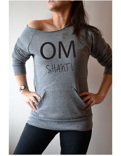 Women's Workout Clothing. Yoga Sweatshirt Off by GirlThreads, $34.99