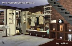 My Fashion Space Part 2 (clothes and shoes) by Mary Jim�nez at pqSims4