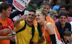 Bitte lächeln: Nach dem Sieg über Italien nimmt sich die niederländische...