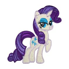 My Litle Pony Patch Pinkamena Rarity Embroidered Cartoon Iron On Sew On Patches