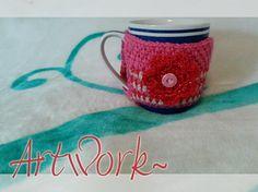 Visit : https://www.etsy.com/listing/214778508/crochet-cup-cozy-gehakelte-kaffee-tasse