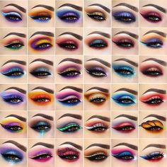 New Pattern Makeup Eyes Glamierre Enchanted Eyeshadow Palette eye makeup patterns - Eye Makeup Makeup Eye Looks, Eye Makeup Steps, Eye Makeup Art, Colorful Eye Makeup, Beautiful Eye Makeup, Cute Makeup, Eyeshadow Makeup, Makeup Eyes, Eyeshadow Palette