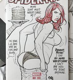 Mary Jane likes Wheat cakes by Frank Cho