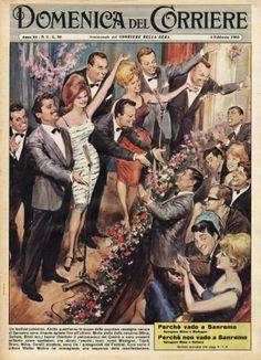 Illustration by Walter Molino E Sport, Vintage Classics, Vintage Italian, Magazine Covers, Vintage Posters, Illustrations Posters, Illustration Art, Poster Prints, History