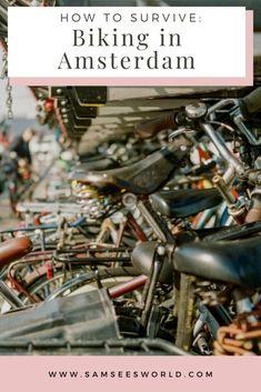 #Biking #Amsterdam #Netherlands #Thingstodo #Europe #Adventure #Travel Amsterdam Weekend, Amsterdam Winter, Amsterdam Things To Do In, Amsterdam Itinerary, Amsterdam City Guide, Amsterdam Travel, Biking In The Rain, Dutch People, See World