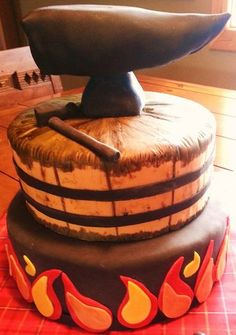 Blacksmith Birthday Cake Cakes Pinterest