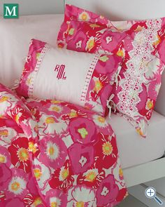 hopefully getting lilly pultizer bedding this week! love the monogramming, too!