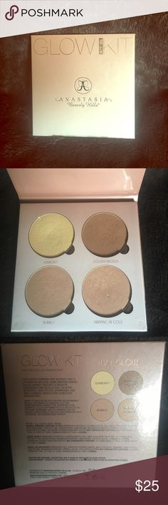 """Anastasia Glow Kit """"That Glow"""" kit barely used... I LOVE this pallet, only used a few times! Lots of uses left in this gem 💋 Anastasia Beverly Hills Makeup Luminizer"""