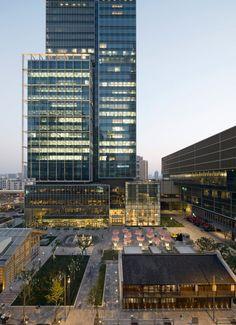 Jing An Kerry Centre, Shanghai, China http://www.kpf.com/projects/jing-an-kerry-centre