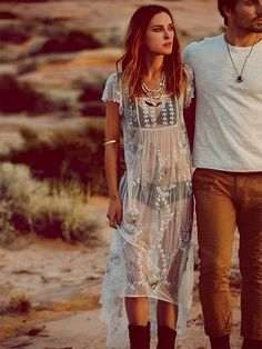 Free People never disappoints — try layering this over another dress to really stand out // Journey Embellished Slip by Free People