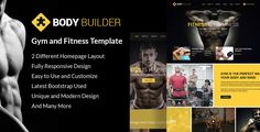 Body Builder: Responsive Gym & Fitness HTML Template . Body Build: Responsive Gym & Fitness Template is a beautiful and extensively graphically designed, intuitive and easy to use, rapidly responsive HTML fitness, gym and yoga website template. Sport, Gym and Fitness Studio is the result of a focused and purposeful development effort, seeking to