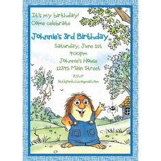 Little Critter Birthday Invitation
