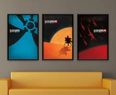 Mass Effect Inspired Vintage Poster Series by ThePixelEmpire, $40.00