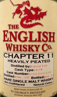 English Whisky Co. Chapter 11 2008/2011 46% (UK)