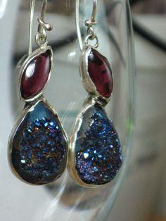 Druzy Dangle EarringsDruzy Drop EarringsRed by rioritajewelry, $45.00