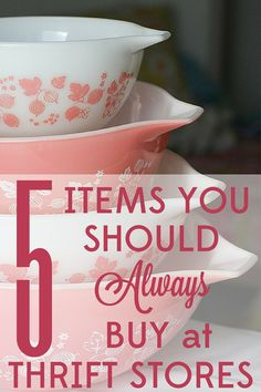 Thrifting is fun, but it can be hard to know what is worth buying. Savvy thrifters know that some things are actually better quality when you buy them used. Find out the 5 items you should always buy at thrift stores.