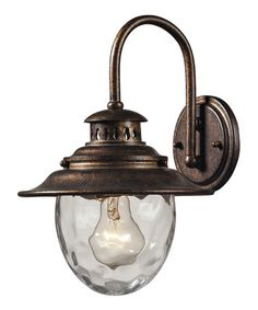 Regal Bronze Searsport Outdoor Sconce #zulily #zulilyfinds $59 ~  GREAT FOR BACK YARD ~
