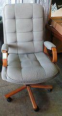 Grey Highback Desk Chair