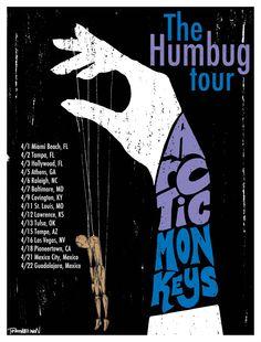 Arctic Monkeys poster design