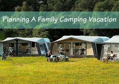 A family camping vac