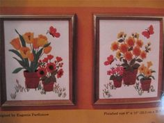 Pots of Flowers and Tulips Crewel Embroidery Kit 0528 by Eugenia Parfionow 8x10 $22.50