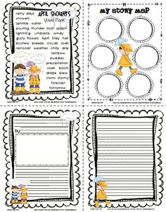 Freebie...April Showers word bank, bubble map, and story paper. As always she  does a super job!