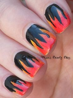 hunger games nail art photos | ... Beauty Blog: NOTD March 29th: Hunger Games Inspired Flame Nail Art