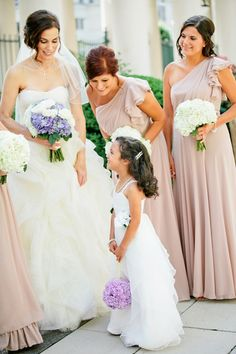 Taupe Bridesmaids dresses- Dessy | photography by http://www.kristynhogan.com