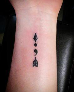 Semicolon Arrow Tattoo Design More
