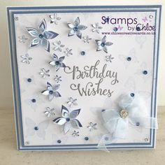 Stamps by Chloe - Birthday Wishes - - Stamps By Chloe Birthday Wishes - Chloes Creative Cards Butterfly Birthday Cards, 40th Birthday Cards, Birthday Cards For Friends, Birthday Cards For Women, Handmade Birthday Cards, Birthday Wishes, Female Birthday Cards, Happy Birthday, Greeting Card Holder
