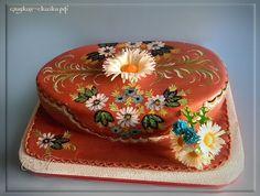 "Cake ""Daisies"", hand-painted"
