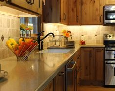 kitchen cabinets interior countertops pine cabinets laundry room 3039