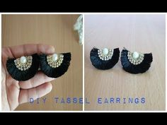 This video shows how to make silk thread tassel earrings. Using small techniques to maintain a distance between tassels. Diy Tassel Earrings, Silk Thread Earrings, Thread Bangles, Paper Earrings, Thread Jewellery, Simple Earrings, Beaded Earrings, Earrings Handmade, Bead Embroidery Tutorial