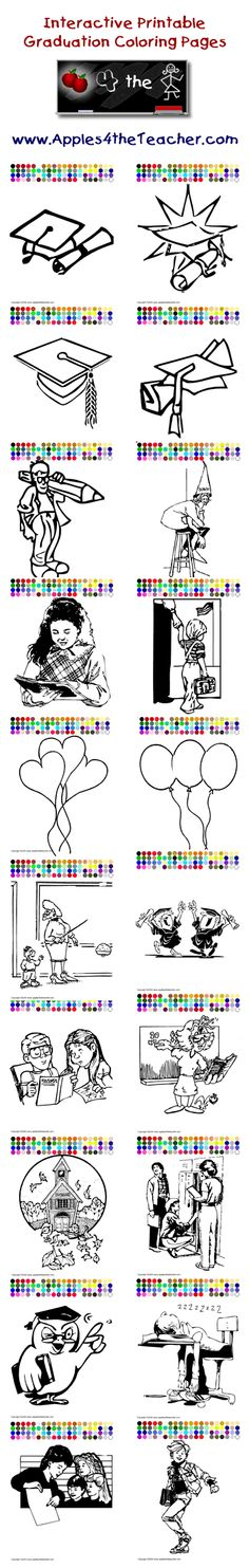 Printable Interactive Graduation Coloring Pages For Kids