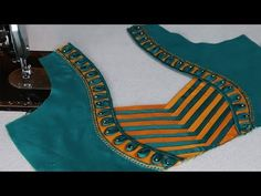 patch work Saree blouse Neck design cutting and stitching at home 2018 Saree Jacket Designs, Patch Work Blouse Designs, Saree Blouse Neck Designs, Simple Blouse Designs, Kurta Neck Design, Stylish Blouse Design, Sari Blouse, Chudidhar Neck Designs, Dress Neck Designs