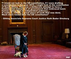 WOW#SCOTUS Ginsberg would not look to US Constitution if she had to draft a new one..She might look at South Africa